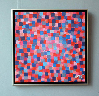 Zofia Matuszczyk-Cygańska : Purple mosaic : Oil on Canvas