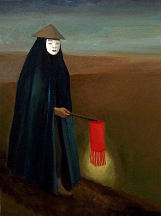 Katarzyna Karpowicz : The corpse walker : Oil on Canvas