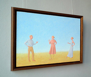 Mikołaj Kasprzyk : Roshambo game : Oil on Canvas