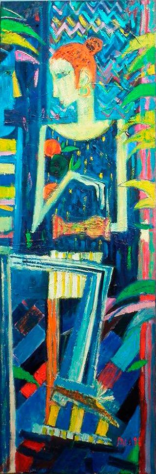 Darek Pala : A joyful eccentric on Titanic : Oil on Canvas