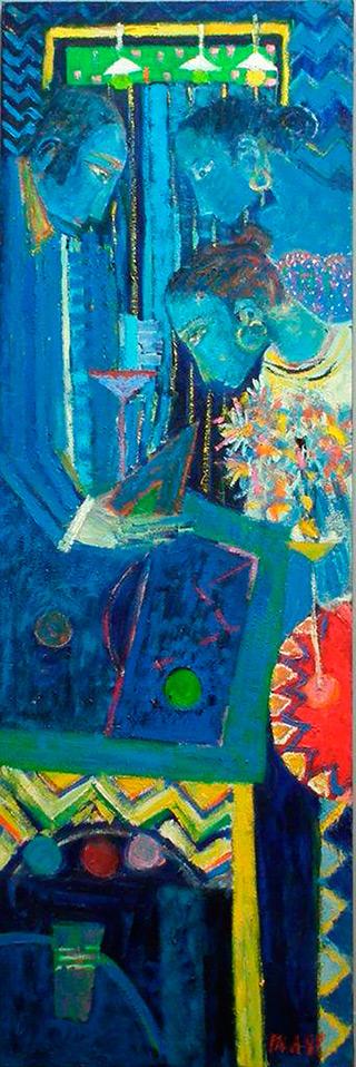 Darek Pala : They weren't listening and he kept talking : Oil on Canvas