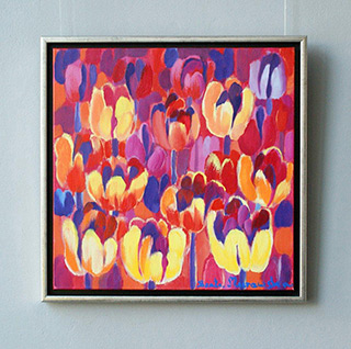 Beata Murawska : Evening tulips : Oil on Canvas