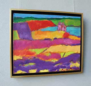 Beata Murawska : Landscape - far out of town : Oil on Canvas
