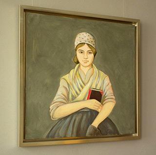 Bogna Gniazdowska : Poetess : Oil on Canvas