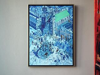 Edward Dwurnik : Blue Cracow : Oil on Canvas