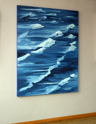 Edward Dwurnik : Blue : Oil on Canvas