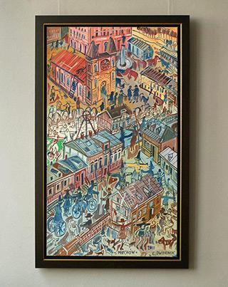 Edward Dwurnik : Miechów : Oil on Canvas