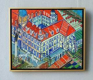 Edward Dwurnik : Royale Castle in Warsaw : Oil on Canvas