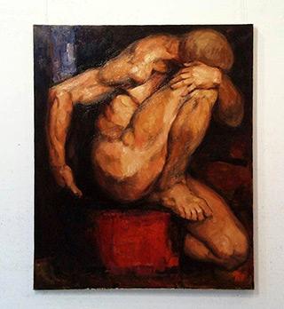 Maciej Deja : Figure Dark : Oil on Canvas