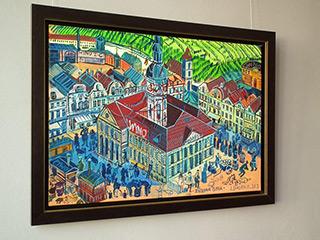Edward Dwurnik : Zielona Gora : Oil on Canvas