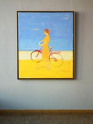 Jacek Łydżba : Bicykle : Oil on Canvas