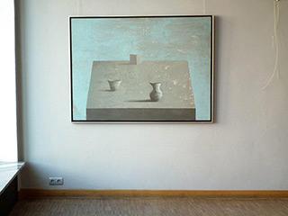 Łukasz Huculak : Three things on the table : Oil on Canvas