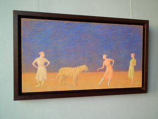 Mikołaj Kasprzyk : Teasing the tiger : Oil on Canvas