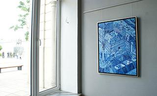 Edward Dwurnik : Blue Royale Castle : Oil on Canvas
