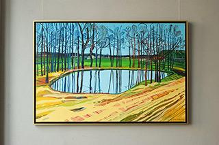 Edward Dwurnik : Brzozówka : Oil on Canvas
