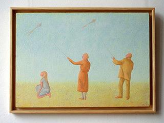 Mikołaj Kasprzyk : Kites : Oil on Canvas