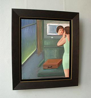 Katarzyna Karpowicz : Brown suitcase : Oil on Canvas