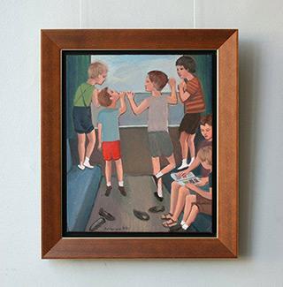 Katarzyna Karpowicz : Children on the train : Oil on Canvas