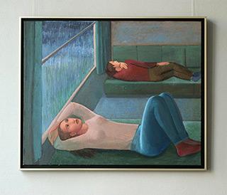 Katarzyna Karpowicz : Trip in the rain : Oil on Canvas