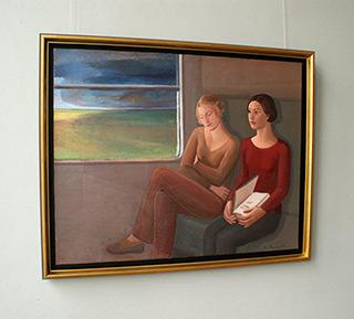 Katarzyna Karpowicz : Two women traveling : Oil on Canvas