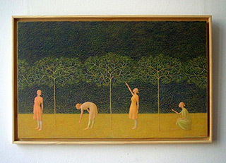 Mikołaj Kasprzyk : Little Trees : Oil on Canvas