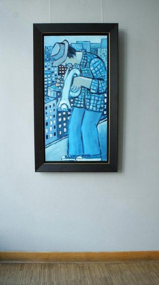 Krzysztof Kokoryn : Blue trumpet : Oil on Canvas