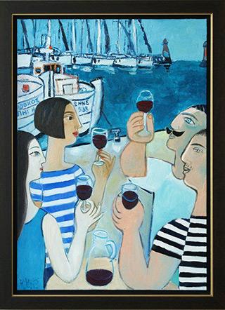 Krzysztof Kokoryn : Greek marina : Oil on Canvas