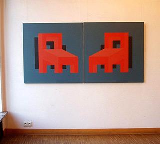 Radek Zielonka : Compromise : Acrylic on Canvas
