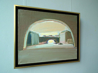 Piotr Bukowski : Under the arches of the bridge : Oil on Canvas