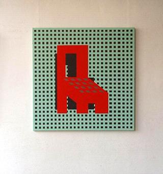 Radek Zielonka : Red Armchair : Acrylic on Canvas