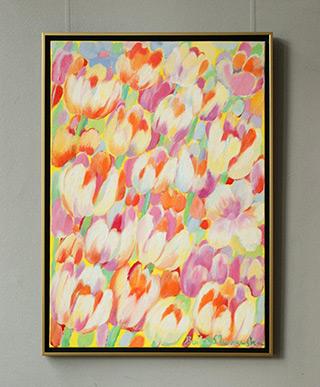 Beata Murawska : Light yellow tulips : Oil on Canvas