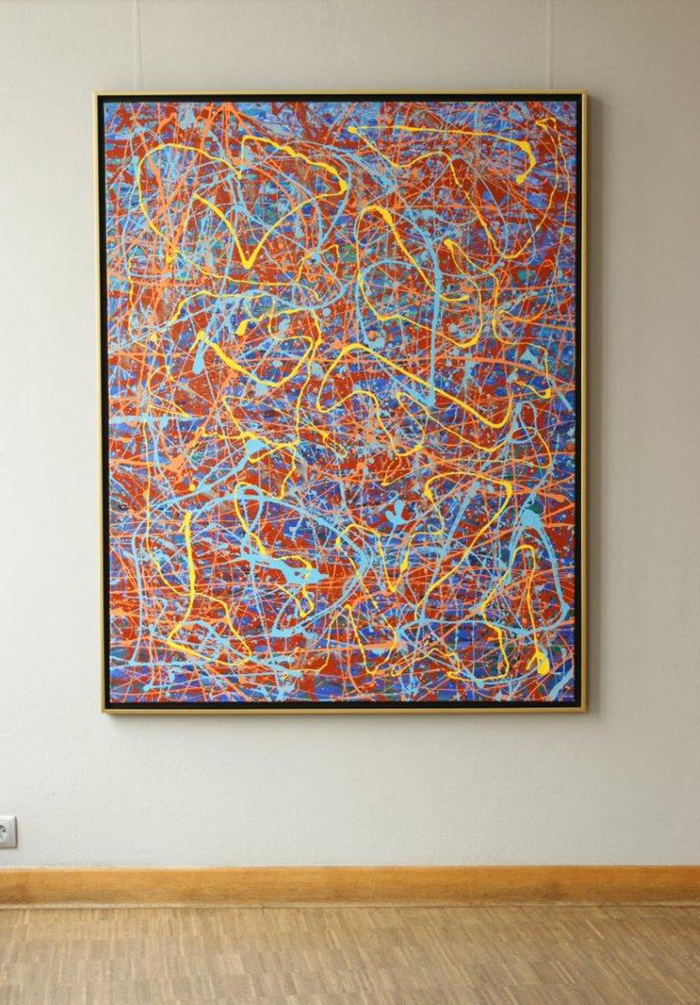 Edward Dwurnik : Cycle XXV Painting no 1 Year 2000