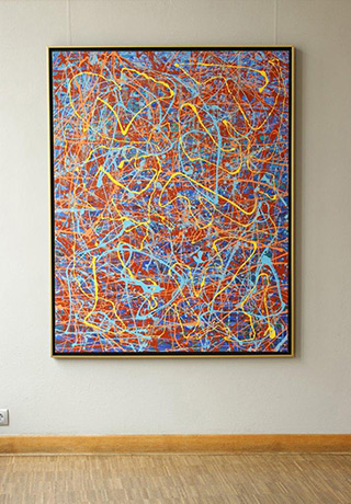 Edward Dwurnik : Cycle XXV Painting no 1 Year 2000 : Oil on Canvas