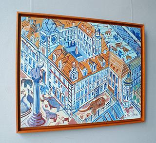 Edward Dwurnik : Warsaw - Castle : Oil on Canvas