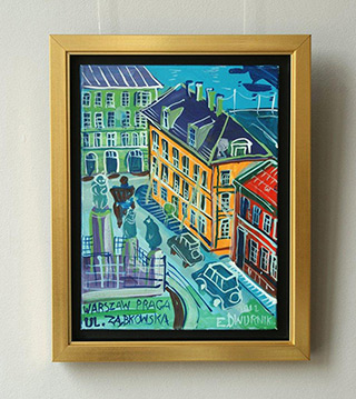 Edward Dwurnik : Zabkowska Street : Oil on Canvas