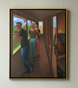 Katarzyna Karpowicz : Trip to Sz. : Oil on Canvas