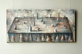 Łukasz Huculak : Still life in a cloud of ash : Oil on Canvas