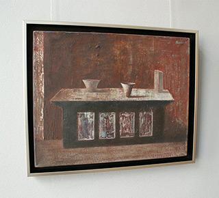 Łukasz Huculak : Tabel with still life : Oil on Canvas