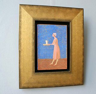 Mikołaj Kasprzyk : Tea : Oil on Canvas