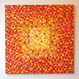 Zofia Matuszczyk-Cygańska : Red : Oil on canvas