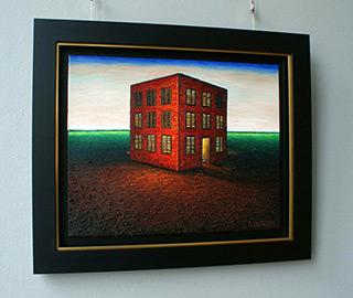 Adam Patrzyk : Red house : Oil on Canvas