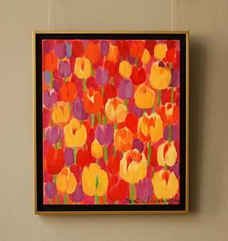 Beata Murawska : Tulips for the evening : Oil on Canvas
