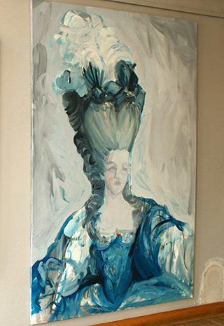 Katarzyna Swinarska : Lady 1 after Gautier-Dagoty from Family connections : Oil on Canvas