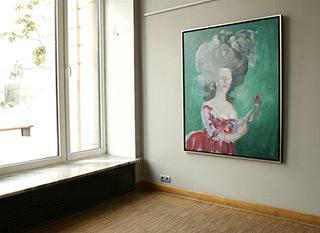 Katarzyna Swinarska : Lady 2 after Le Brun from Family connections : Oil on Canvas