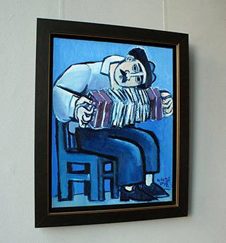 Krzysztof Kokoryn : Bandoneón player : Oil on Canvas