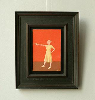 Mikołaj Kasprzyk : Girl with gun : Oil on Canvas