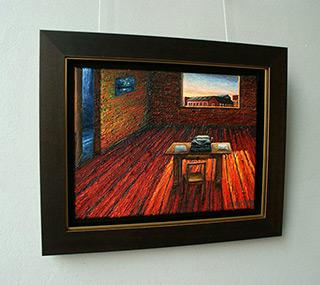 Adam Patrzyk : Writers room : Oil on Canvas