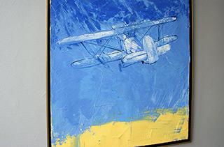 Jacek Łydżba : Biplane : Oil on Canvas