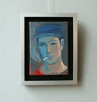 Katarzyna Karpowicz : Boy with cigarette : Oil on Canvas