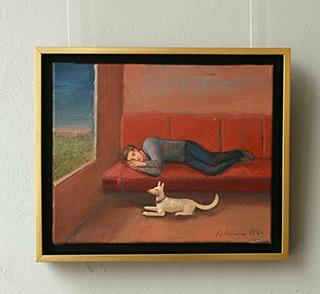 Katarzyna Karpowicz : Sleep on the road : Oil on Canvas
